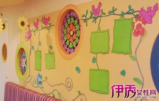 教师巧手制作幼儿绘画作品展示墙 幼儿美术教育活动是满足儿童感受