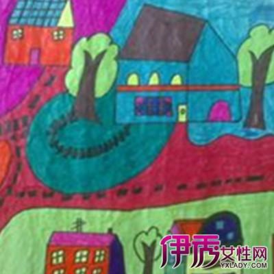 【房子儿童画】【图】房子儿童画图片欣赏
