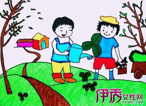 赏析爱劳动儿童画 从小培养爱劳动的良好习惯
