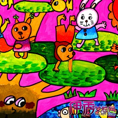 儿童画动物园图片欣赏 2个方面教你如何指导儿童画画