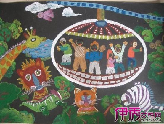 儿童画动物园简笔画画展 儿童简笔画技巧介绍图片
