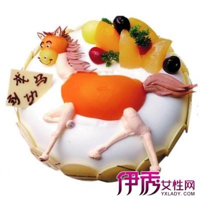 【卡通马儿童生日蛋糕】【图】创意卡通马儿童生日