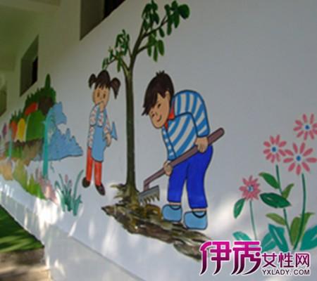 校园一角的儿童画 4大招正确引导孩子绘画