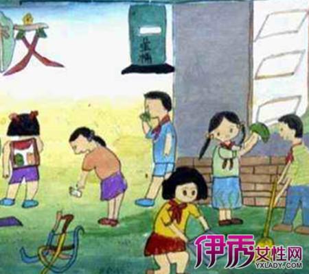 【图】校园一角的儿童画
