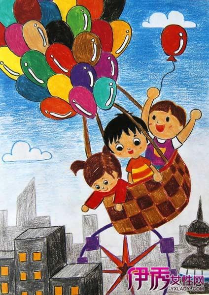 的热汽球图片 热气球简笔画图片欣赏