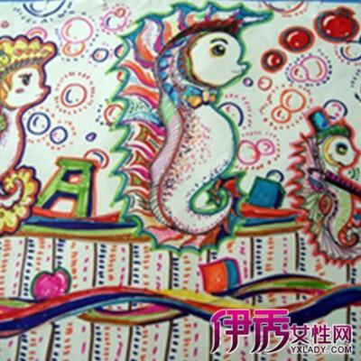 儿童彩铅画教师范画】【图】欣赏儿童彩铅画教 ...