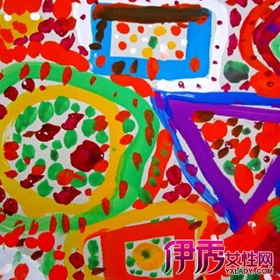可爱幼儿园颜料画赏析 多彩颜色充分激发孩子想象力