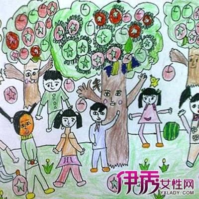 【图】欣赏幼儿绘画秋天的果实图片
