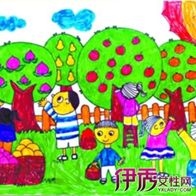 欣赏幼儿绘画秋天的果实图片 带你走进孩子们眼中的秋天