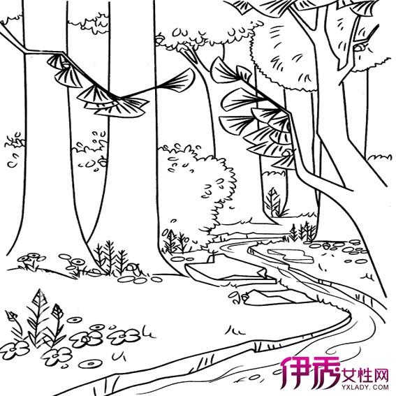【儿童山水风景简笔画】【图】儿童山水风景简笔画