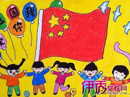 儿童画我的祖国图-祝福祖国