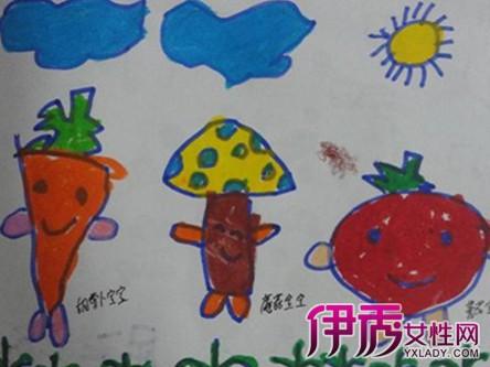 幼儿园中班美术教案:蔬菜印画