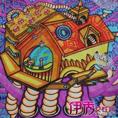 【儿童创意美术画】【图】超可爱的儿童创意美术画图片