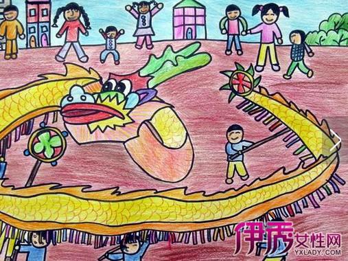 【儿童迎新年画】【图】教小朋友画儿童迎新年画