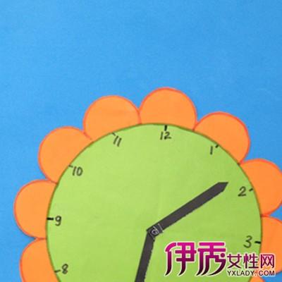 手工制作钟表的图片