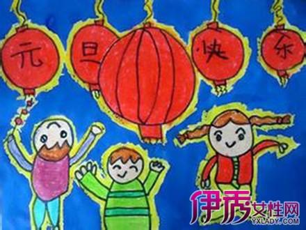 【图】关于元旦的儿童画展示
