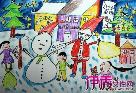 【圣诞节儿童创意画】【图】圣诞节儿童创意画展示