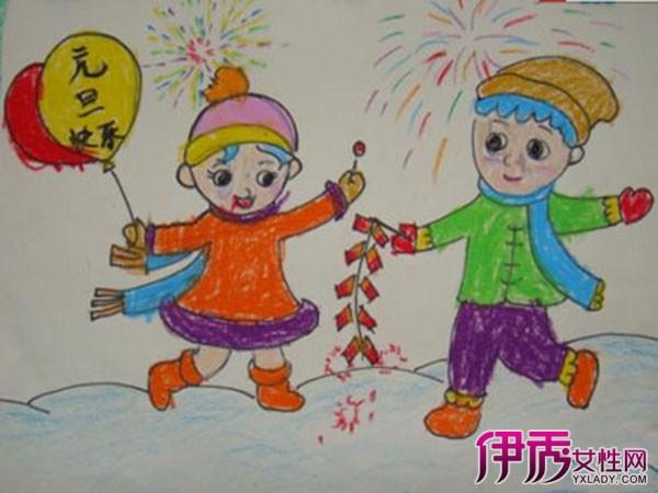 迎新年幼儿简单绘画作品欣赏 幼儿学习绘画的益处有哪些?图片