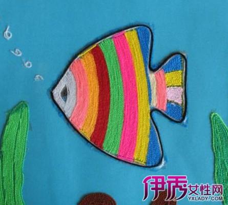 儿童手工毛线贴画图片大全 详解儿童手工的意义图片