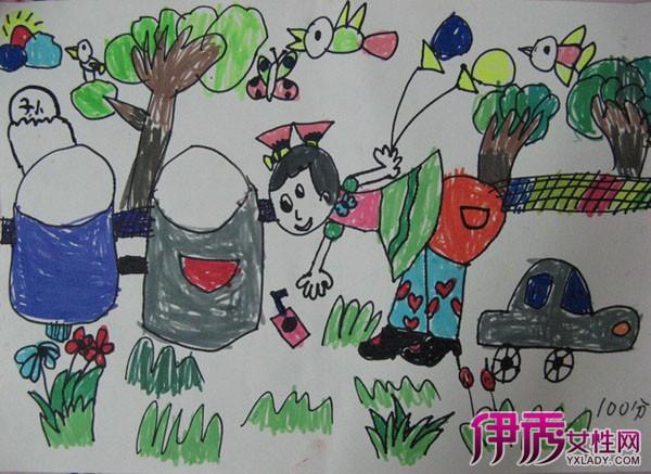 垃圾分类儿童画作品展示 开发孩子早期智力