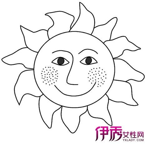 【幼儿简笔画太阳】【图】欣赏幼儿简笔画太阳