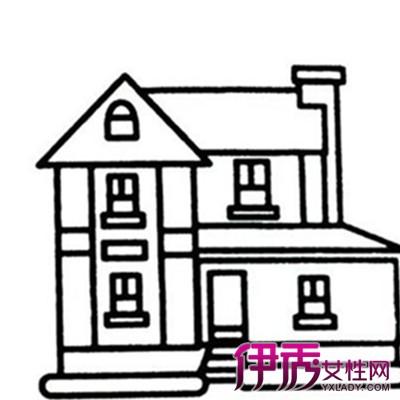 幼儿园简笔画房子图片欣赏 教你如何画简笔画