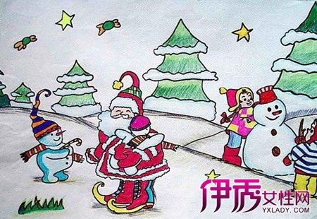 【圣誕節兒童畫畫圖片】【圖】展示圣誕節兒童畫畫