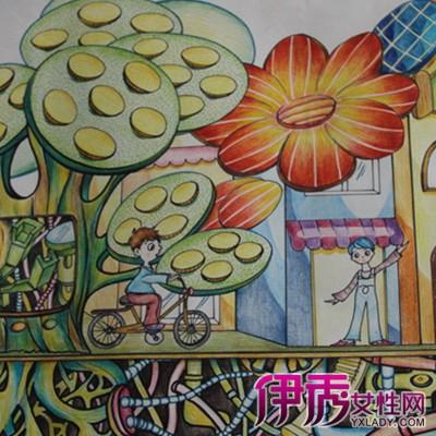 萌萌哒创建文明城市儿童画 激发孩子早期智力