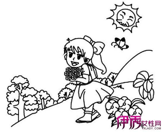 幼儿蜡笔画图片欣赏 美丽的春天